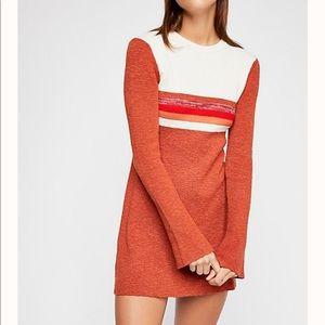 FREE PEOPLE Colorblock Swift Mini Dress